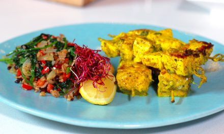 Fish Kebabs with Ginger & Sumac