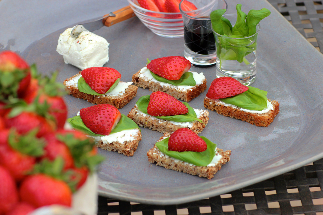 Bruschetta Chevin Strawberry Canapés