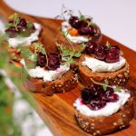 Roasted Cherries & Chevin Crostini