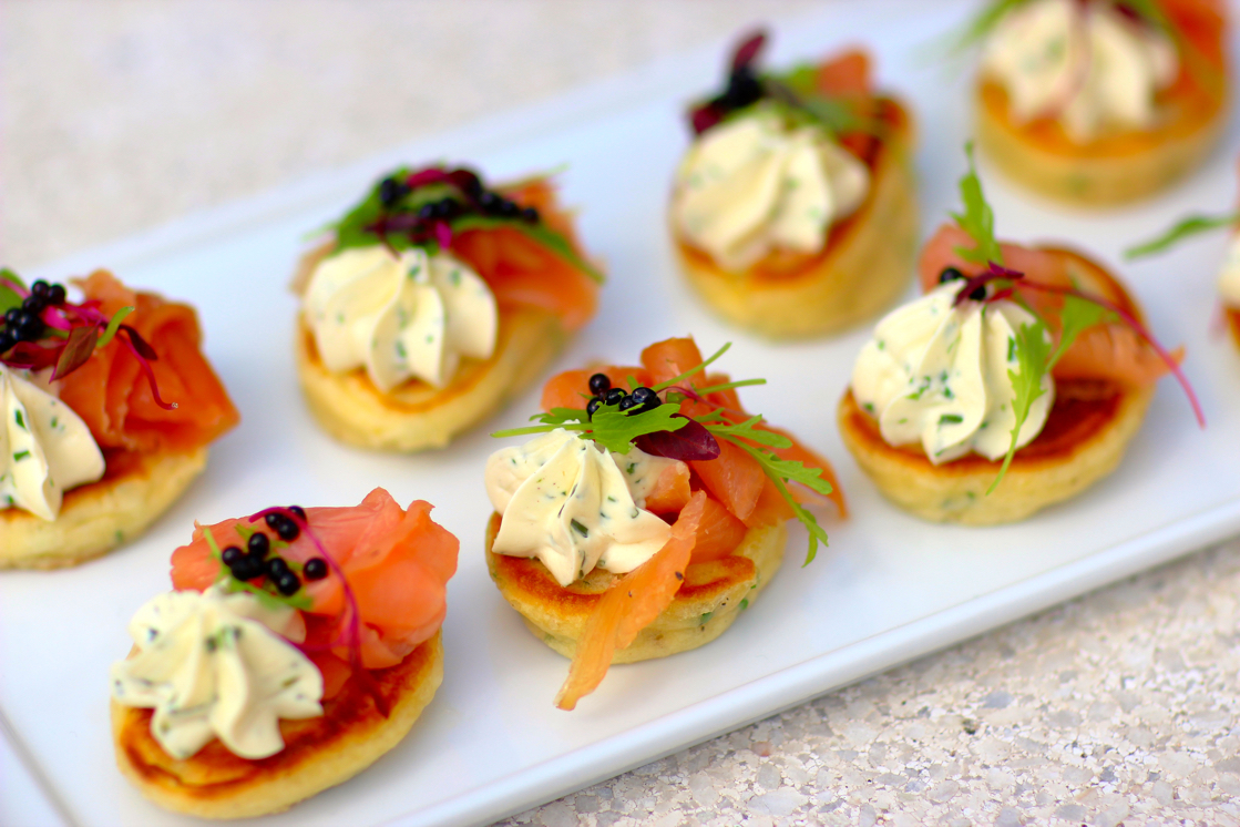 Blinis with Smoked Salmon Cream Cheese