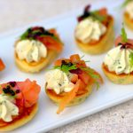 Blinis with Smoked Salmon & Cream Cheese
